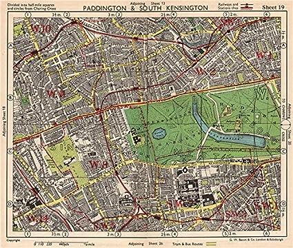 South Kensington London Map.Amazon Com W London Paddington South Kensington Bayswater Notting