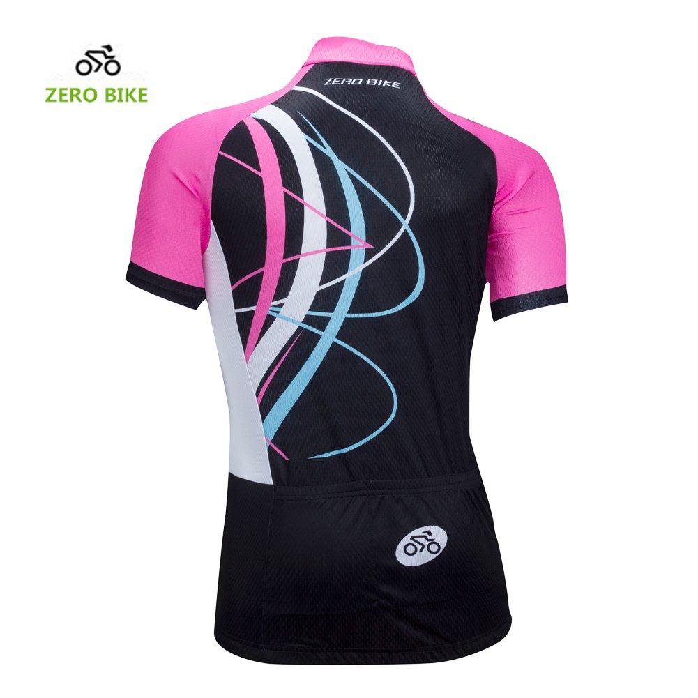 ZEROBIKE/® Women//Ladies Short Sleeve Cycling Jersey Shirt