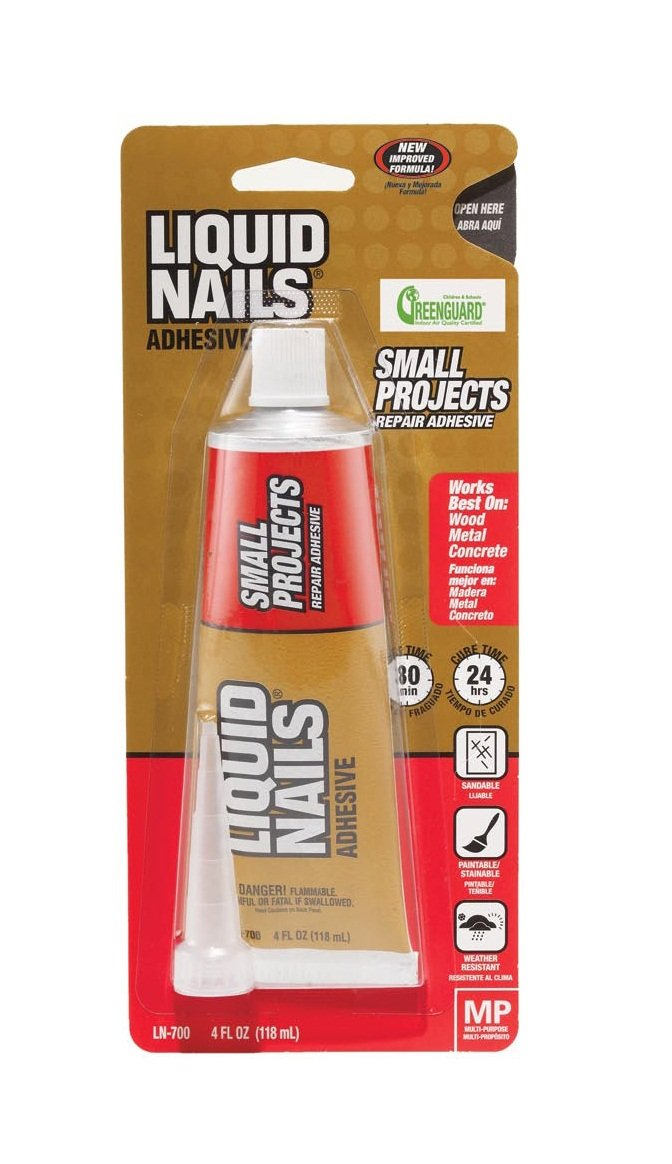 Liquid Nails LN700 4 Ounce 2 Pack Small Projects and Repairs Adhesive