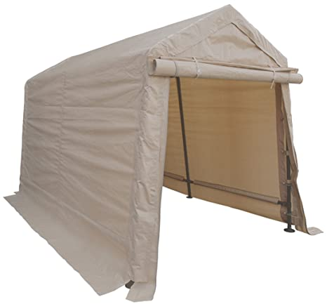 Groovy Impact Canopy 6X8 Portable Storage Shed Outdoor Shelter Tan Interior Design Ideas Skatsoteloinfo