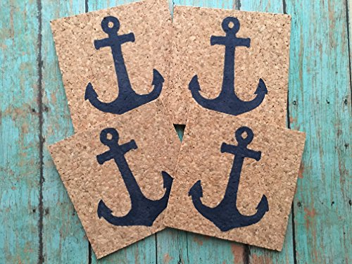 Anchor Drink Cork Coaster Set