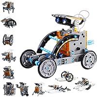 Innoo Tech STEM 12-in-1 Education Solar Robot Toys -190 Pieces DIY Building Science Experiment Kit for Kids, Robotics…
