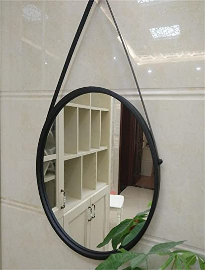 Miroir mural en fer forgé Miroir circulaire Miroir Miroir Chambre ...