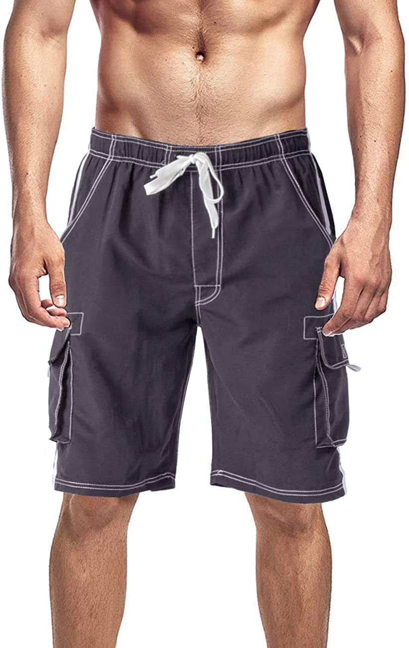EKLENTSON Mens Beach Shorts Lightweight Quick Dry Shorts with Pockets Sports Shorts for Men