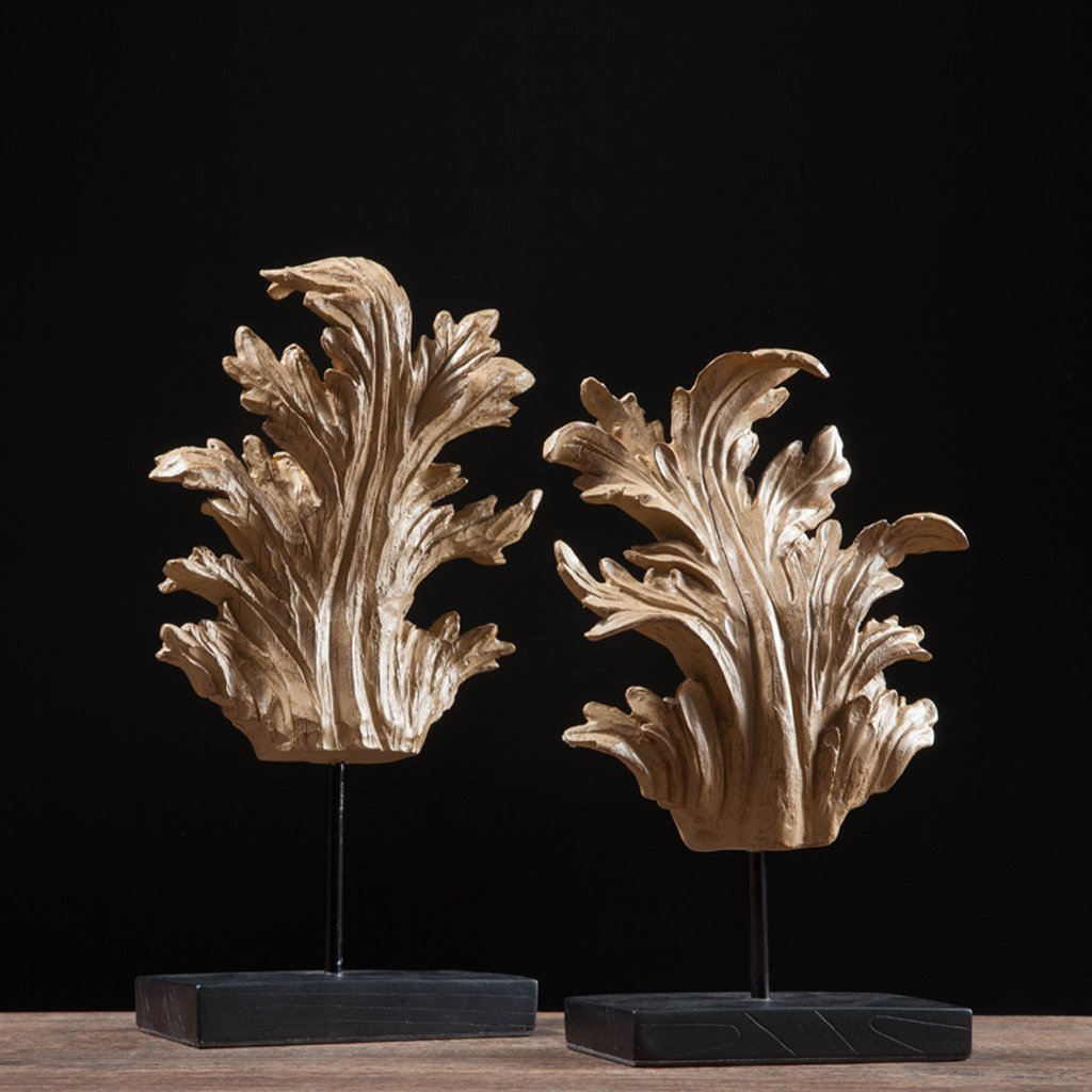 North America Resin Leaves Home Decoration Wine cabinet decorations indoor living room coffee table TV cabinet office desk Wedding Gifts