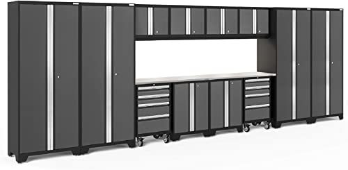 NewAge Products Bold 3.0 Gray 14 Piece Set, Garage Cabinets, 50439