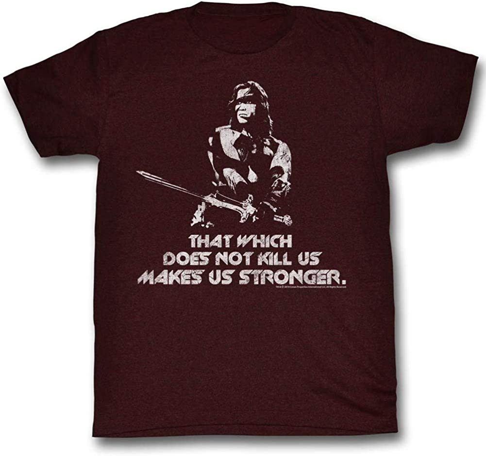 Conan The Barbarian Makes You Stronger Licensed Adult T Shirt