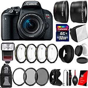 Canon EOS Rebel T7i 24.2MP Digtal SLR Camera with 18-55mm IS STM Lens , TTL Speedlite Flash and Accessory Bundle