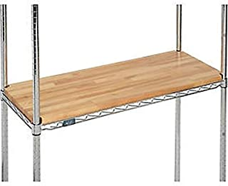 """product image for John Boos 36"""" W x 14"""" D x 1"""" Thick Hardwood Deck Overlay for Wire Shelving"""