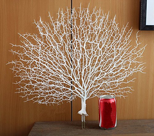 (Shopline Artificial Fan-Shaped Dried Branch, Plastic Plant Decoration for Home, Wedding (White))