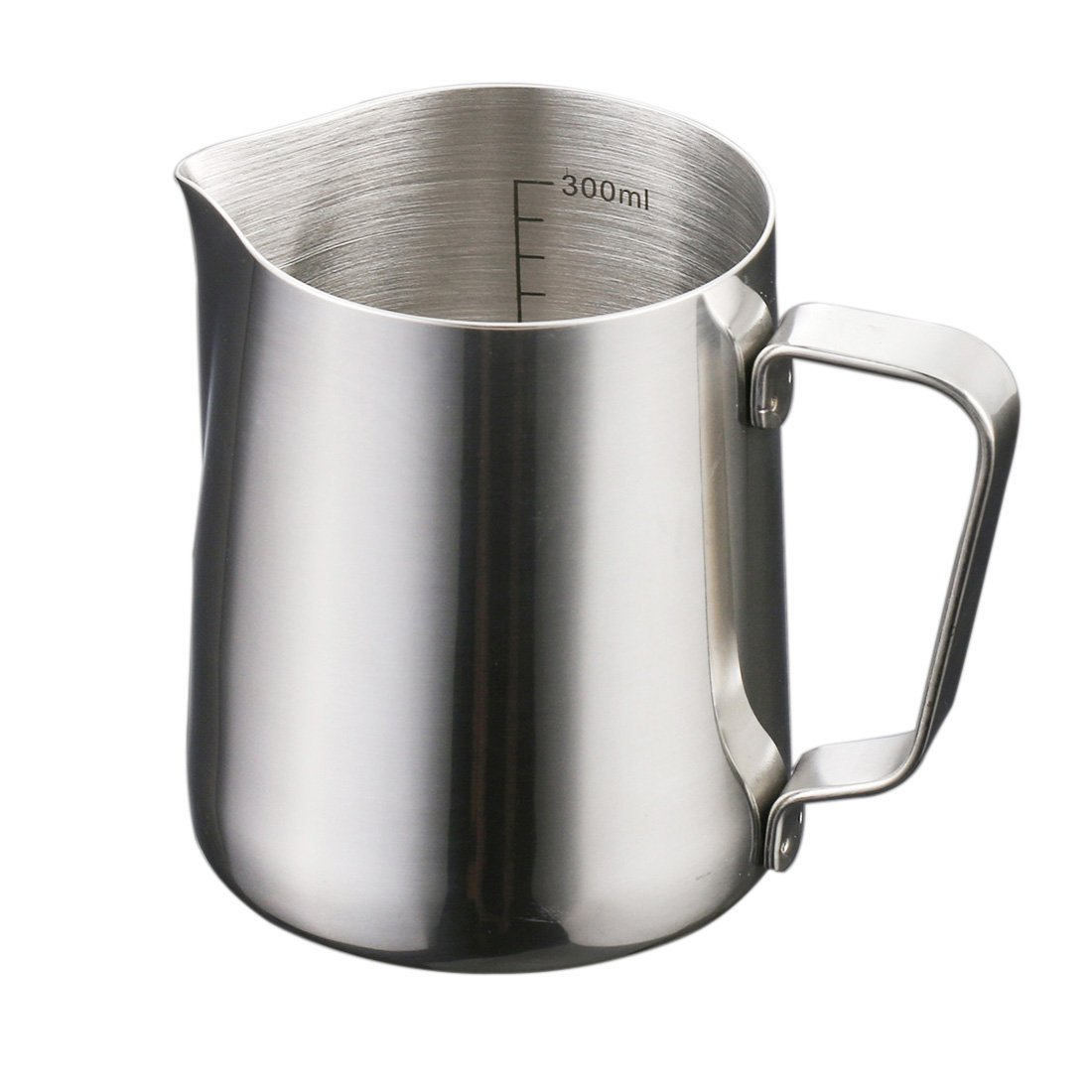 Milk Frothing Pitcher, Yamix Stainless Steel Milk Frothing Pitchers Milk Cup Professional Latte Milk Steaming Pitcher 12oz/300ml for Espresso Maker, Hot Milk Frother & Latte Art