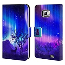 Head Case Designs Purple Forest Grove Northern Lights Leather Book Wallet Case Cover For Samsung Galaxy S5 Active
