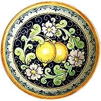CERAMICHE D'ARTE PARRINI - Italian Ceramic Serving Bowl Decorated Lemons Art Pottery Made in ITALY Tuscan