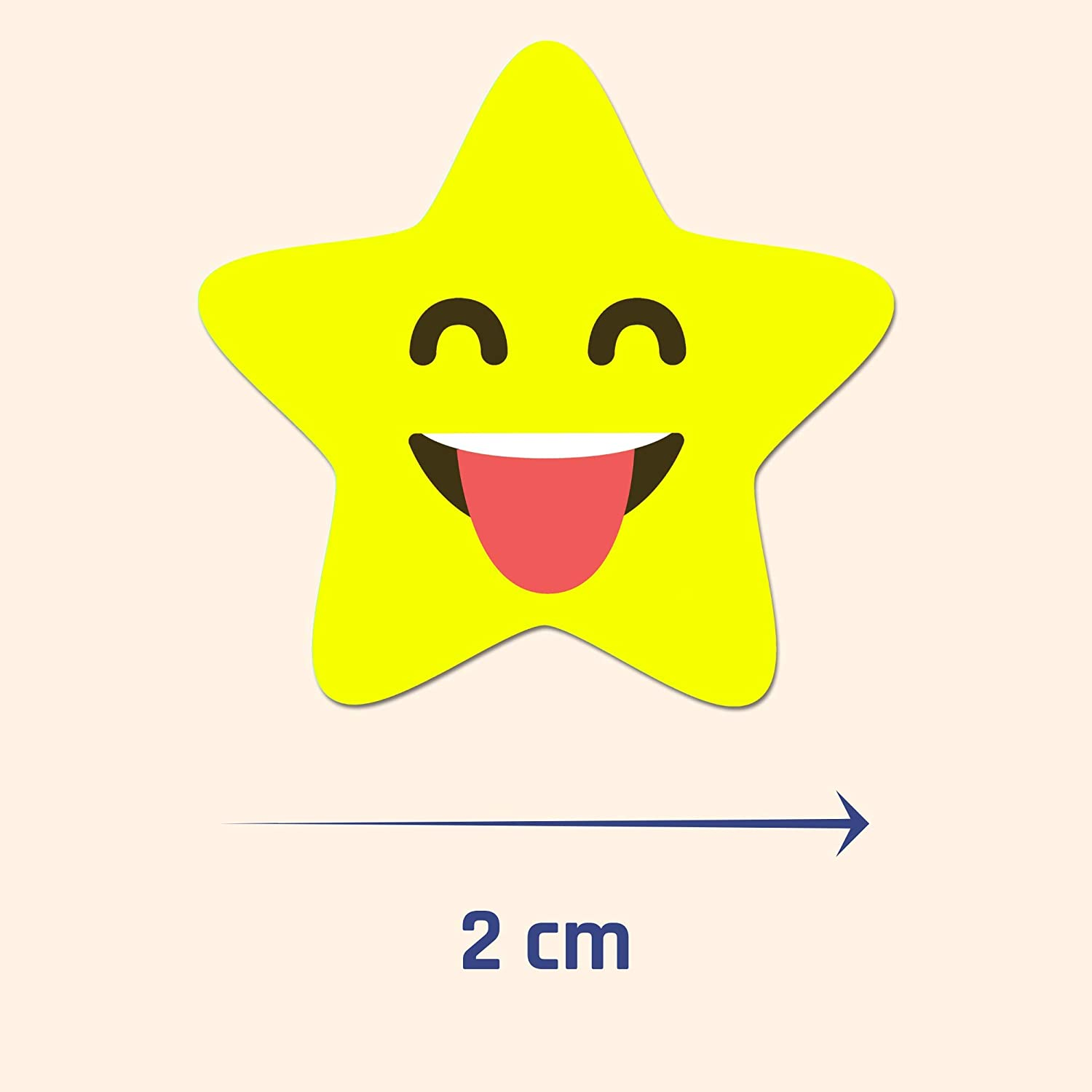 10 Designs Smiley Star Reward Stickers 2cm 1000 Pack