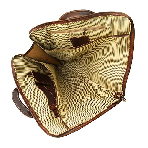 Tuscany Leather - Sorrento - Dokumenten - Tasche aus Leder Braun - TL141022/1 Braun