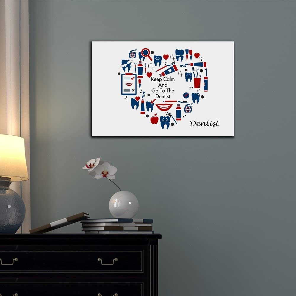 Dentist Canvas Wall Art wall26 Keep Calm and Go to the Dentist 32x48 inches