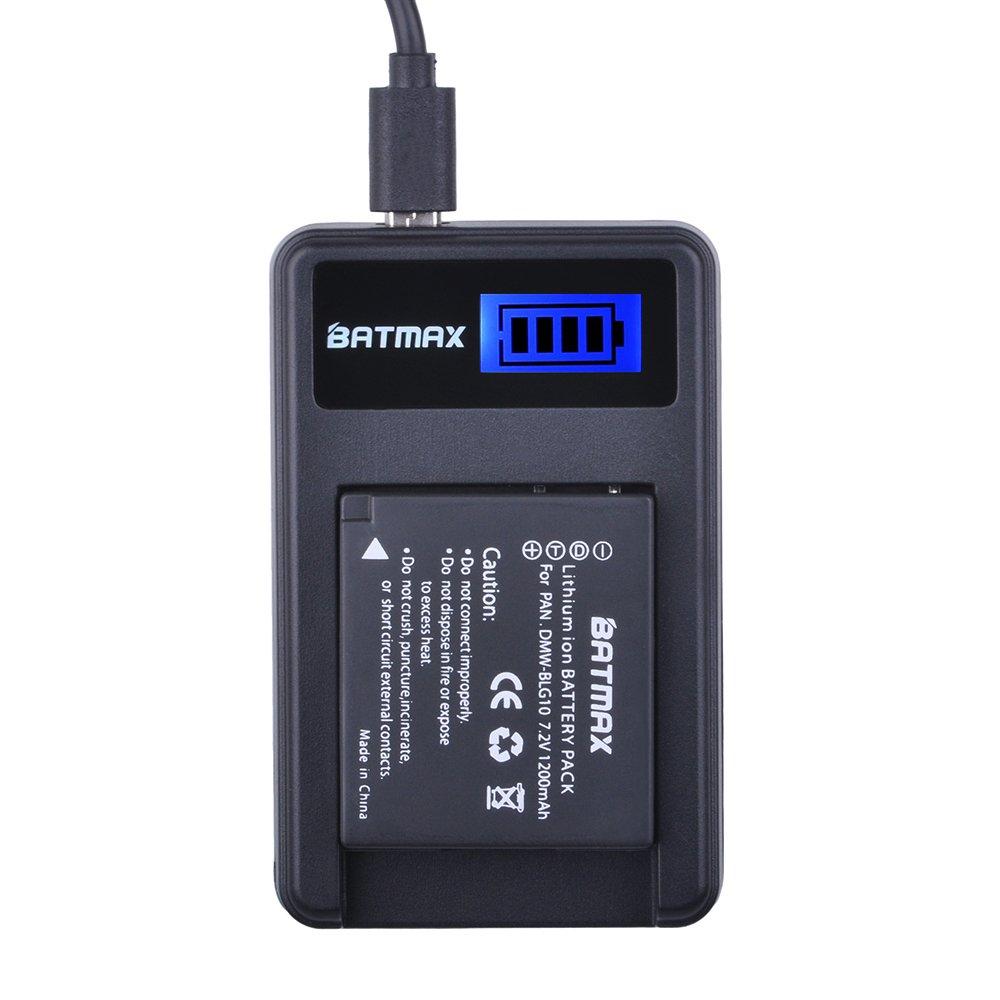 Batmax 2Pcs 1200mAh DMW-BLG10 BLG10 BP-DC15 Battery + LCD USB Charger for Panasonic DMW-BLE9, DMW-BLG10;Lumix DMC-ZS60, DMC-ZS100, DMC-GX7, DMC-LX100, DMC-GF3, DMC-GF5, DMC-GF6, DMC-GX85 by Batmax (Image #5)