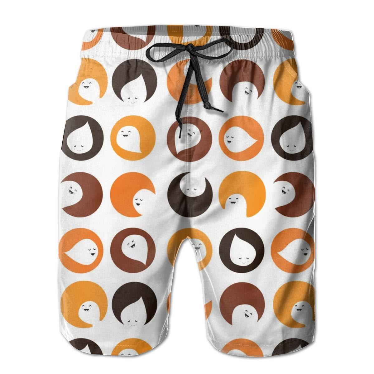 WMDJEG Cute Wallpapers Mens Summer Beachwear Sports Running Swim Board Shorts Mesh Lining