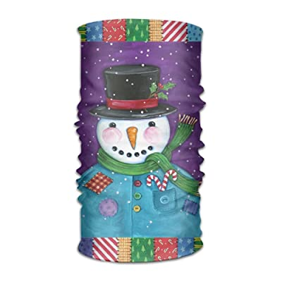 Colorful Snowman Funny Pattern Headband Bandana Mask Sports Seamless Breathable Hair Band Turban For Workout, Fitness, Running, Cycling, Yoga