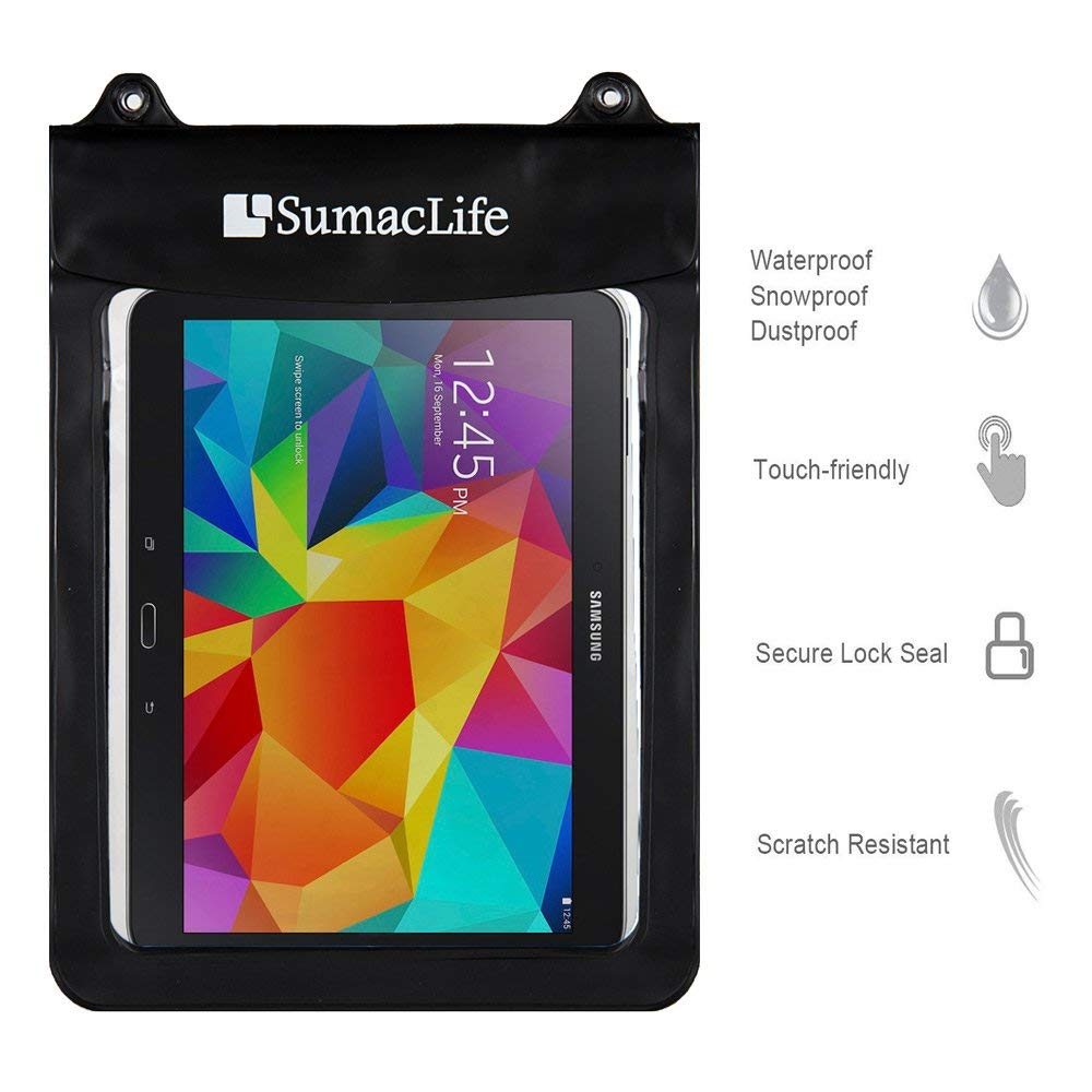 Amazon.com: Universal Waterproof Case Tablets Dry Bag Pouch Protective Case Cover Compatible Amazon Fire HD 10 / Kindle Fire HDX 8.9 / New Fire HD 8 / Fire ...