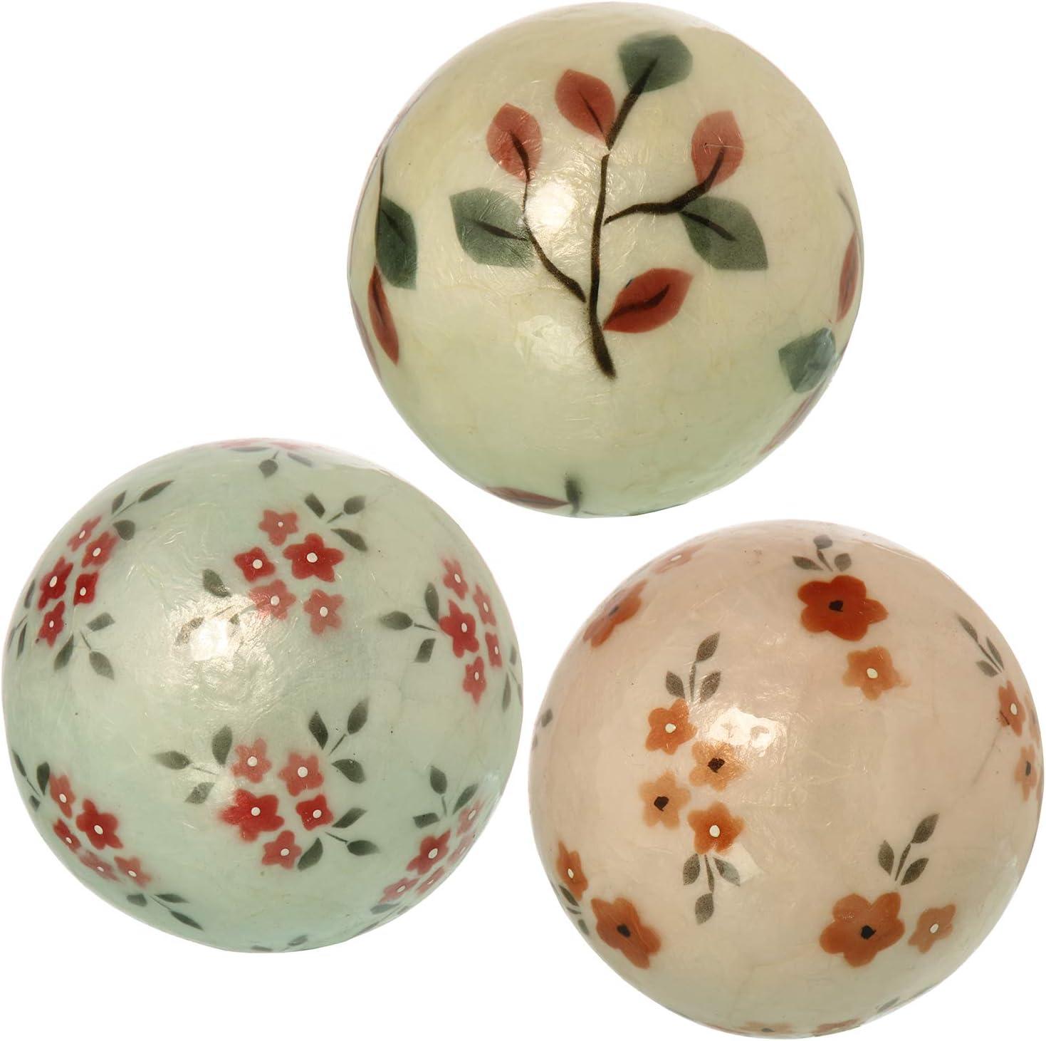 DRW Bolas decoraci/ón nacaradas Redondas de 10 cm Loros Colores