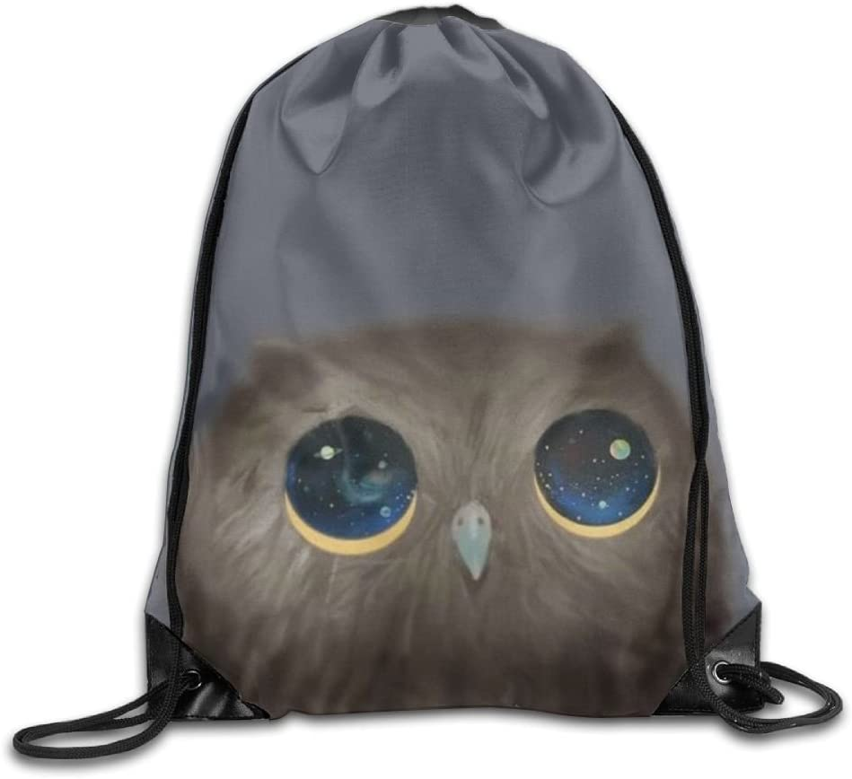 Owl Art Drawstring Backpack Rucksack Shoulder Bags Training Gym Sack For Man And Women