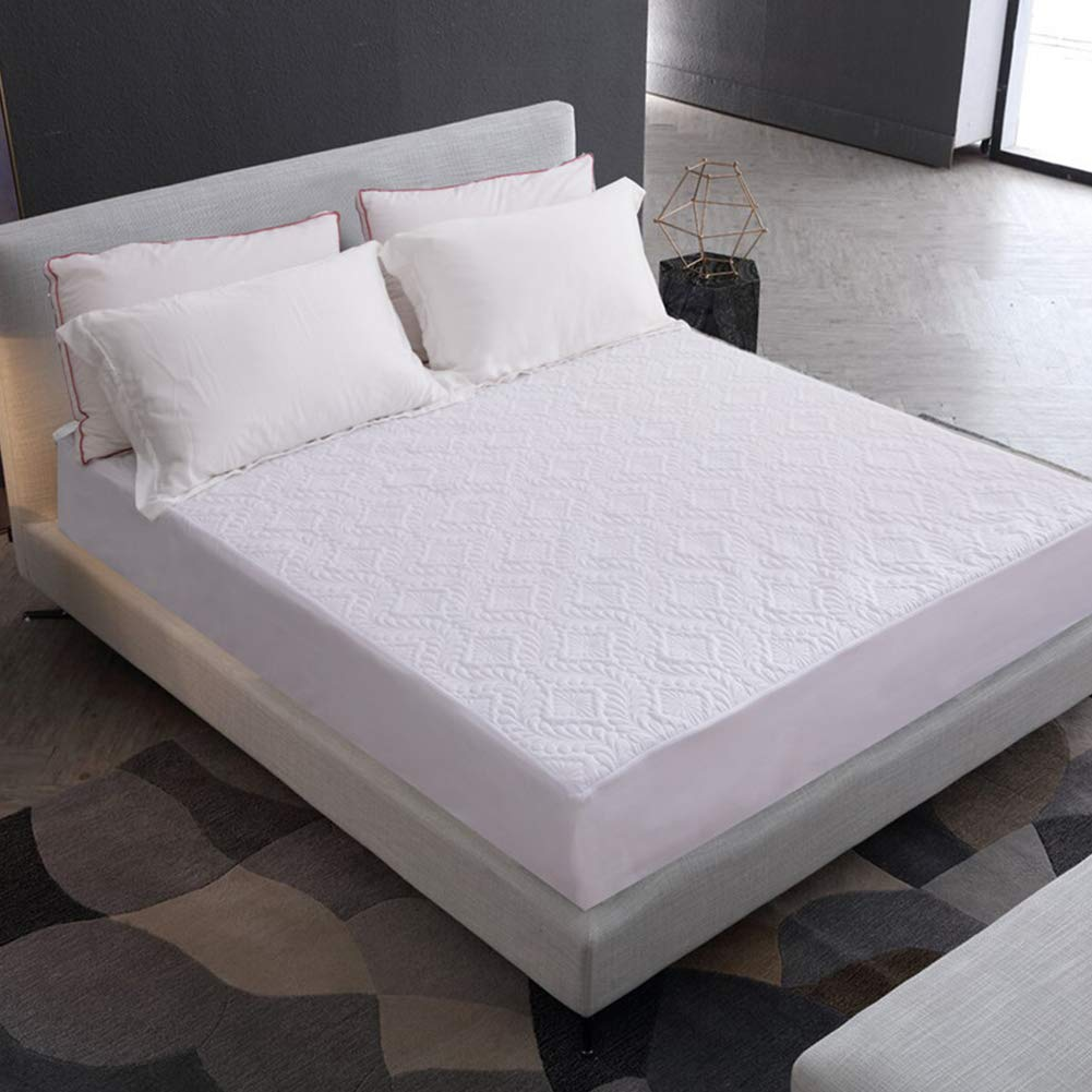 RONSHIN Home Bed Cover Waterproof Dustproof Bed Mattress Cover Protector Pad White (Twist) 140X200cm+30cm