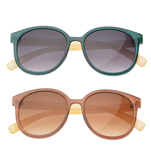 67198ad7aed Amazon.com  MLC Eyewear ® Gift Set of 2 Oval Candy Colored ...