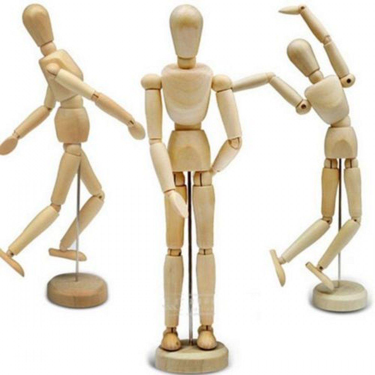 5-1//2 Inch 14ARTIST WOODEN MANIKIN MANNEQUIN SKETCH SKETCHING LAY FIGURE DRAWING MODEL AID