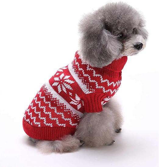 UMIPUBO Ropa para Mascotas Ropa de Perros Jersey de Forro Polar para Perros y Gatos Ropa de Abrigo suéter de Lana Caliente para Mascotas Cachorro de Perro: Amazon.es: Productos para mascotas