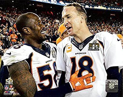 competitive price c9a2c d427c The Denver Broncos Peyton Manning & Von Miller During Super Bowl 50, 8x10  Photograph Picture