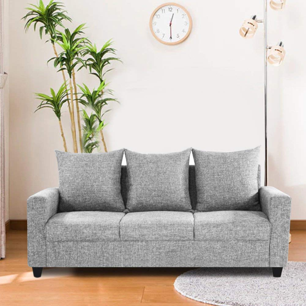 Furny Juan Three Seater Sofa (Light Grey)