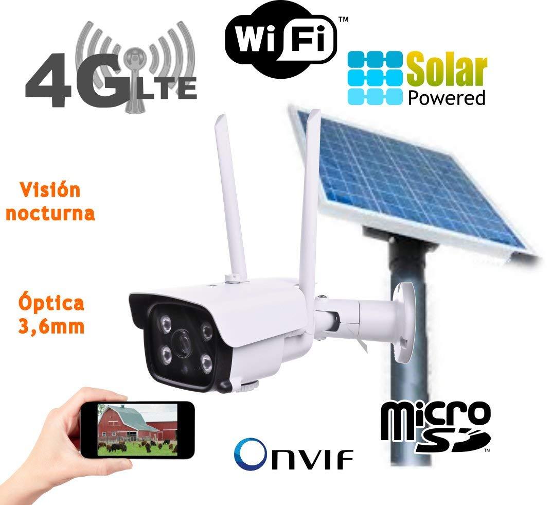 Camara IP Solar 3G 4G Exterior Placa Solar bateria Tarjeta SD ...