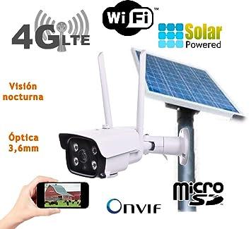 Camara IP Solar 3G 4G Exterior Placa Solar bateria Tarjeta ...
