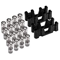 Replace Number 12499225 HL124 Hydraulic Roller Lifters & 4 Guides Trays Compatible with Chevy GM 4.8 5.3 5.7 6.0 6.2 7.0 LS1 LS2 LS3 LS6 LQ4 LQ9 LY5 LY6 LM7 (For Chevy GM)