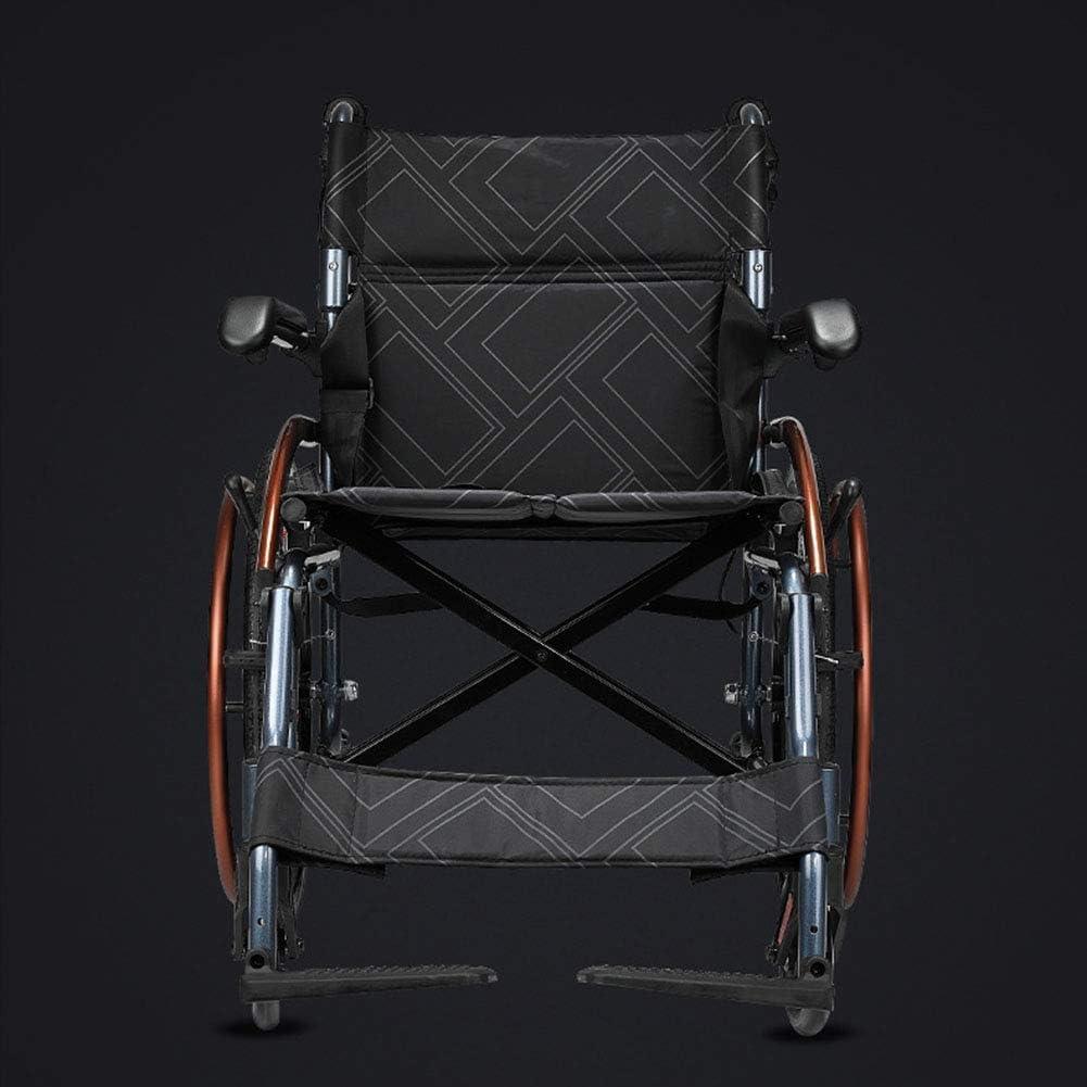 GBX@I Silla de ruedas plegable ligera, ancianos, viaje portátil, discapacitados, ancianos, silla de ruedas manual multifuncional Silla de ruedas