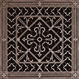 "Decorative Grille, Vent Cover, or Return Register. Made of Urethane Resin to fit over a 12''x12'' duct or opening. Total size of vent is 14""x14''x3/8'', for wall and ceiling grilles (not for floor use)."