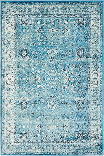Blue Overdyed Rug Amazon Com