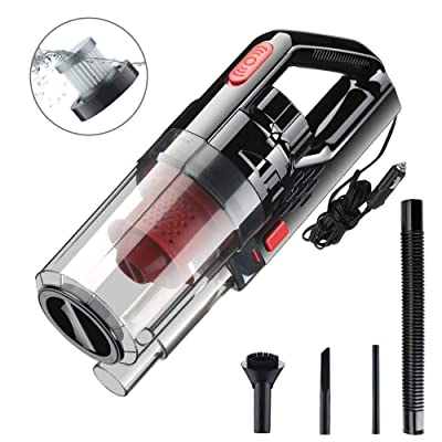 VISLONE Car Vacuum Cleaner High Power DC 12V 150W 6000PA Wet Dry Handheld Portable Auto Interior Vacuum Cleaner for Car Household Handheld Mini Small Vacuums: Home & Kitchen