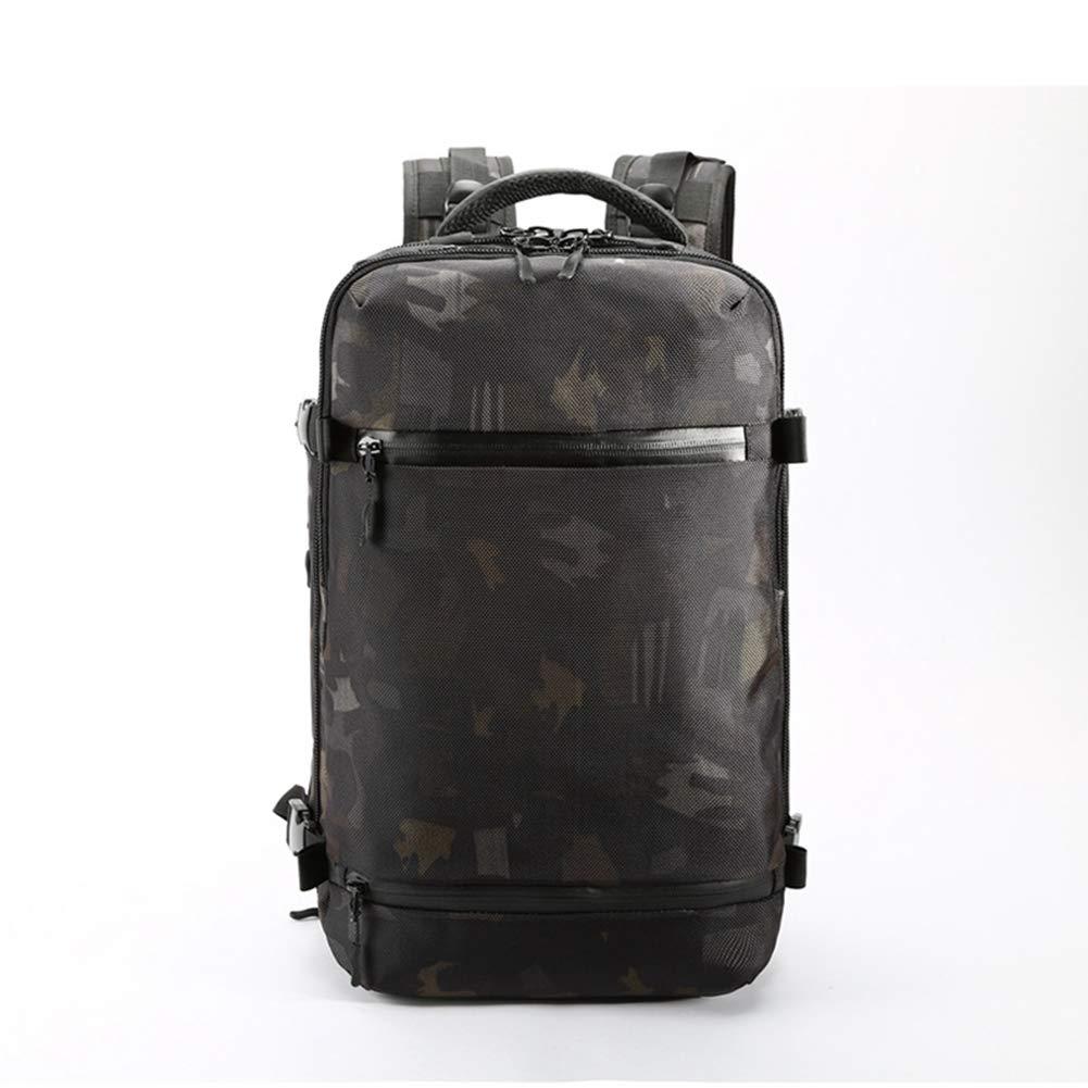 AHWZ 多機能バックパック USBバックパック アウトドア 大容量 防水 旅行バッグ オックスフォード生地 迷彩   B07JGJN23W