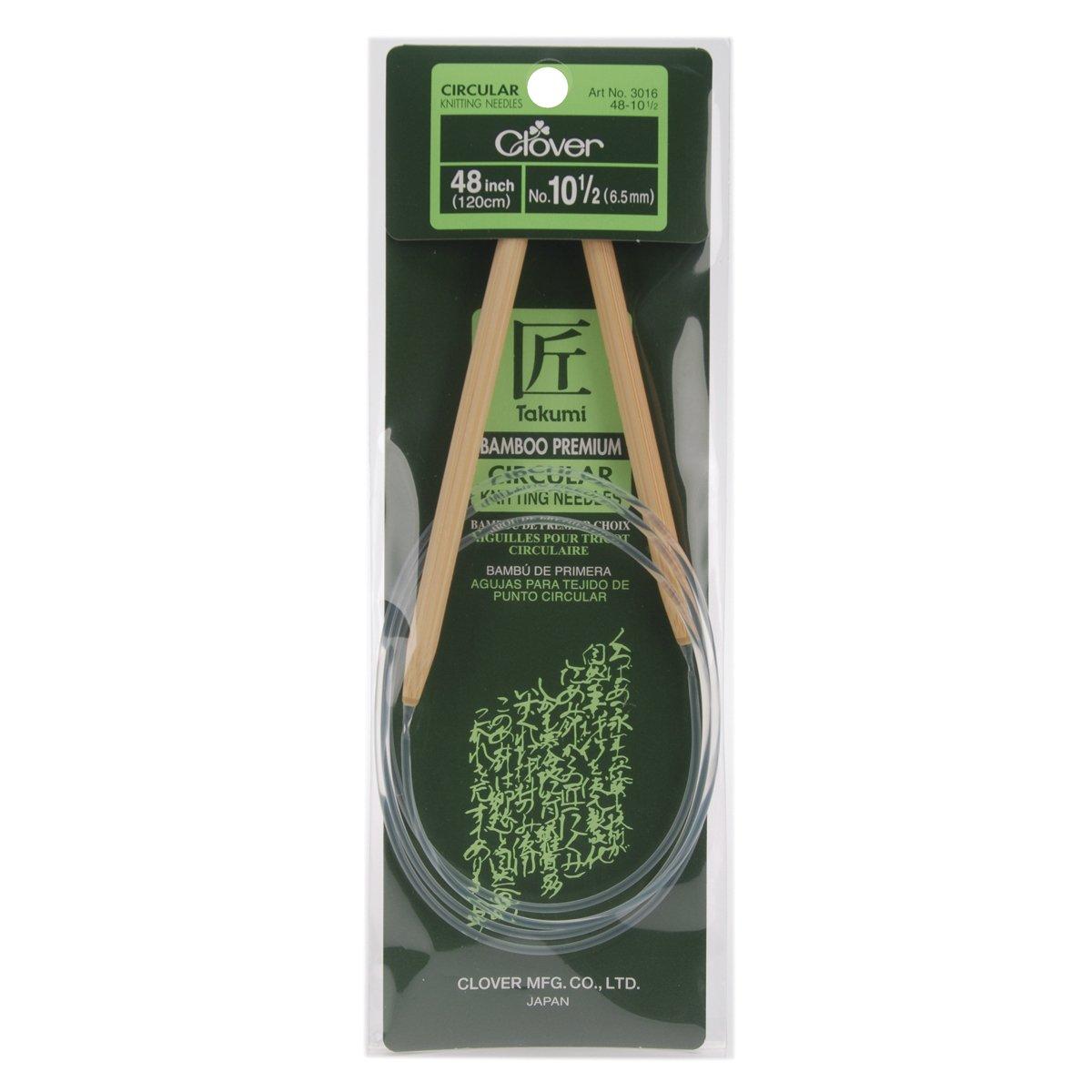 Aguja Circular Clover Takumi Bamboo 122cm  - 10.5