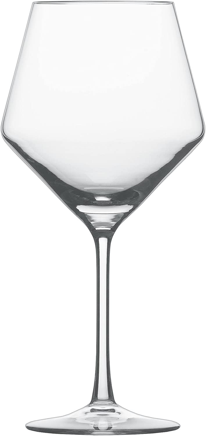 Schott Zwiesel Tritan Crystal Glass Pure Stemware Collection Burgundy Red Wine Glass, 23.4-Ounce, Set of 6 - 26.112421