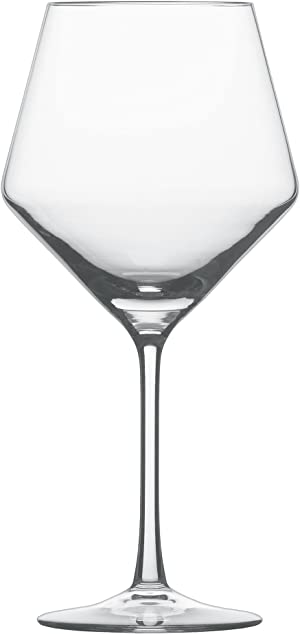 Schott Zwiesel Tritan Crystal Glass Pure Stemware Collection Burgundy Red Wine Glass, 23.4-Ounce, Set of 6 -