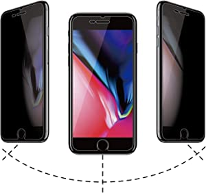 Glass Privacy Screen Protector for iPhone 6 Plus/7 Plus/8 Plus,5.5-Inch,Anti Spy Tempered Glass Film,2 Pack