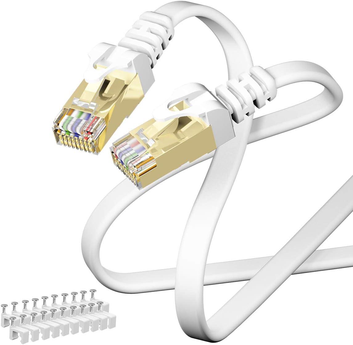 Cable Ethernet CAIVOV Cat7 alta velocidad 10 Gigabit (15m)