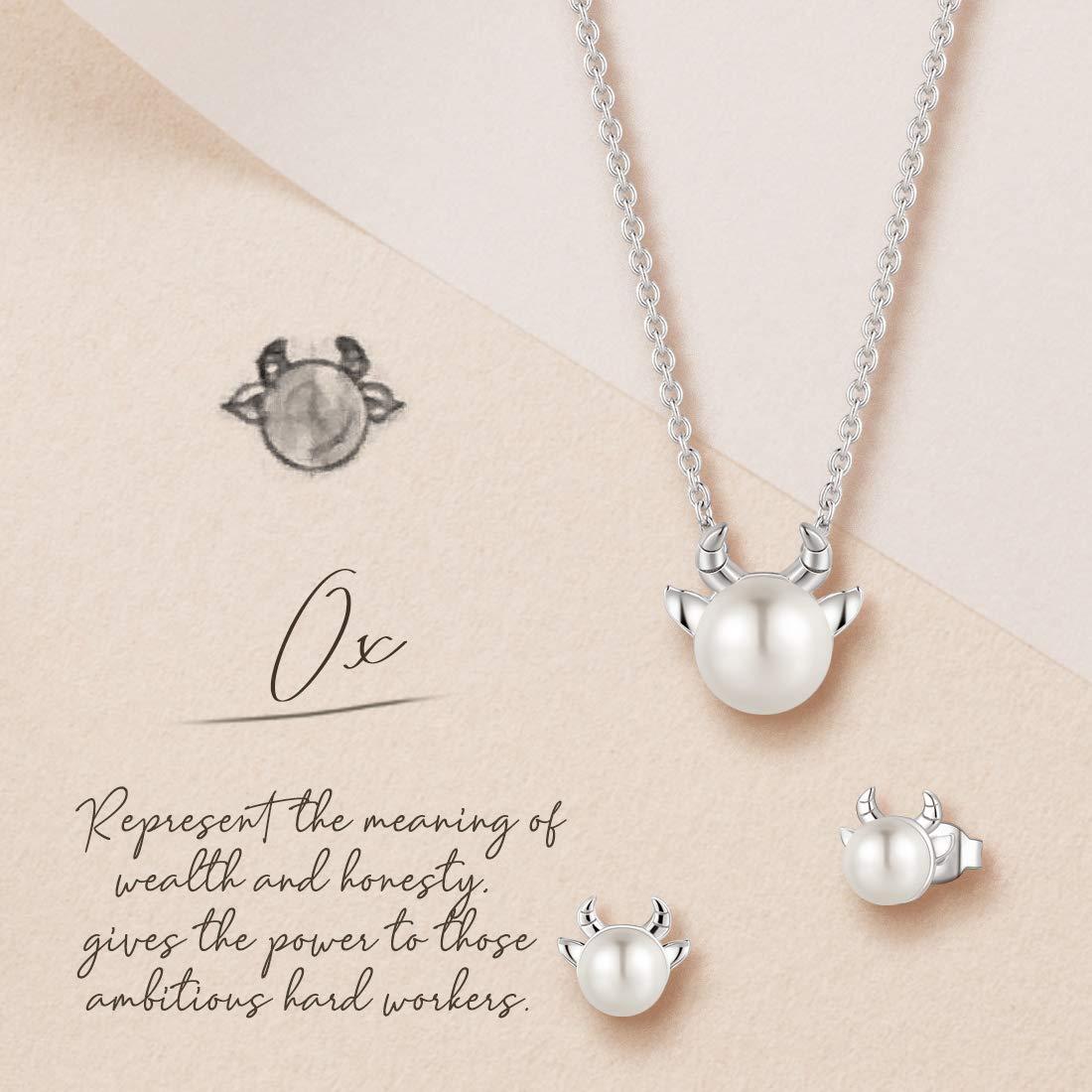 FANCIME Sterling Silver Freshwater Pearl Stud Earrings Animal Earrings Tiny Small Single Pearl Fine Jewelry for Women Teen Girls