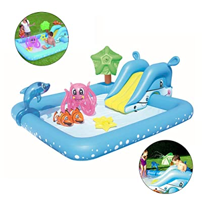 ZY Summer Kids Paddlingpools Finelyty Portable Rectangular Inflatable Children's Pool, PVC Baby Paddling Pools, Family Swimming Center Pool: Home & Kitchen