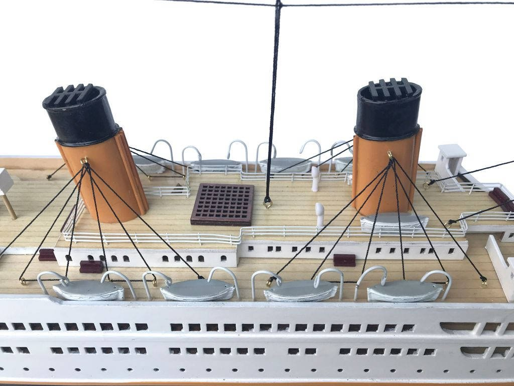 Handcrafted Nautical Decor RMS Titanic 40'' - Titanic Model Cruise Liner - Wooden Cruise Ship - Museum Qual