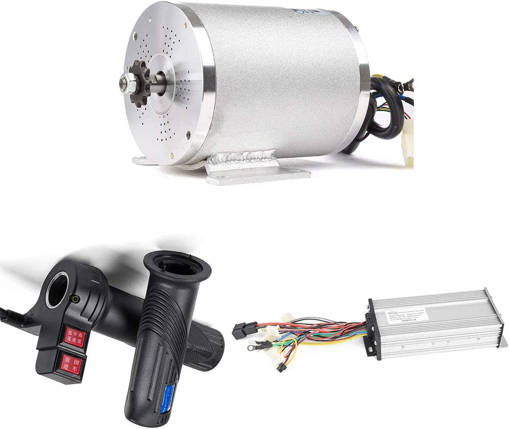 B07H6WVHHP MY1020 2500W 60V Electric Brushless DC Motor Kit, 41A 18 Mosfet Brushless Motor Controller,Twist Grip Throttle, Electric Scooter E-Bike Conversion Kit DIY (60V 2500W BLDC Motor Kit with Foot) 617cUz2YqvL