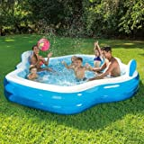 Summer Waves Inflatable Family Pool with Mosaic